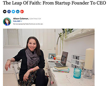 The Leap Of Faith: From Startup Founder To CEO